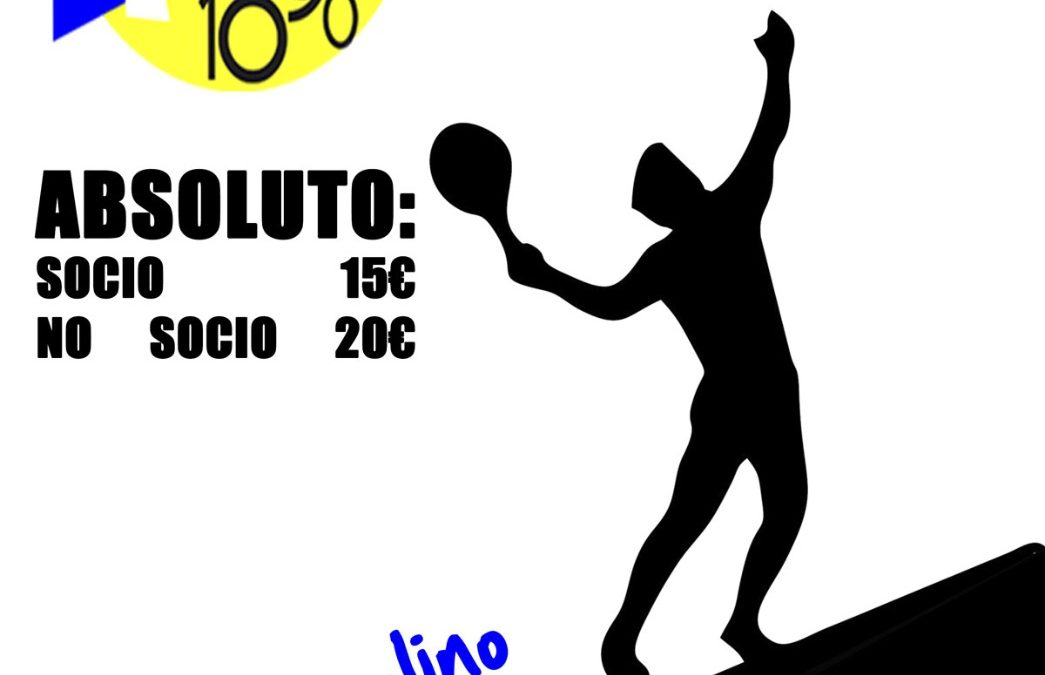 Torneo Absoluto – Tenis 17/19 Julio 2020