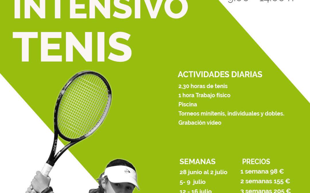 Intensivo Tenis – Junio y Julio 2021