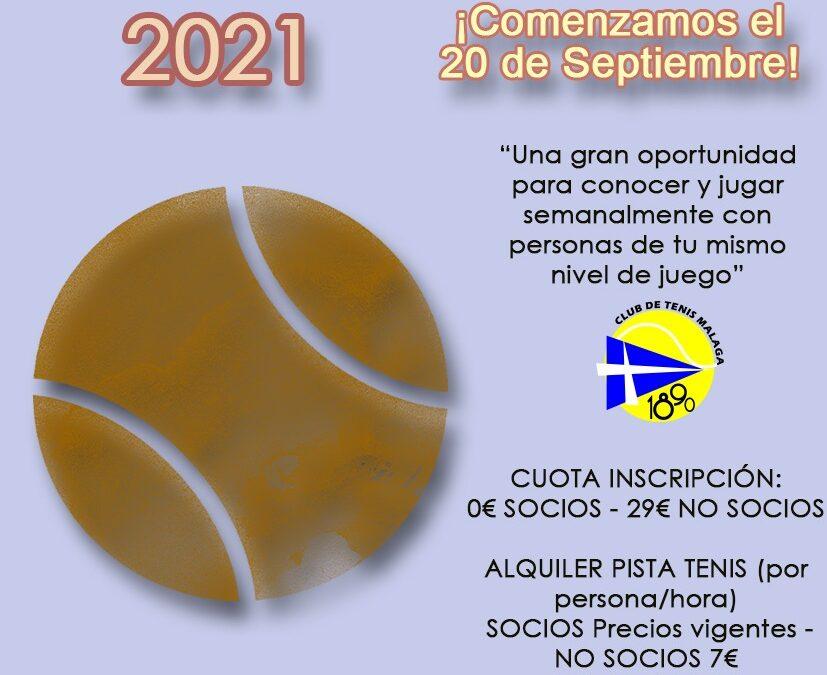 Liga de tenis Septiembre 2021